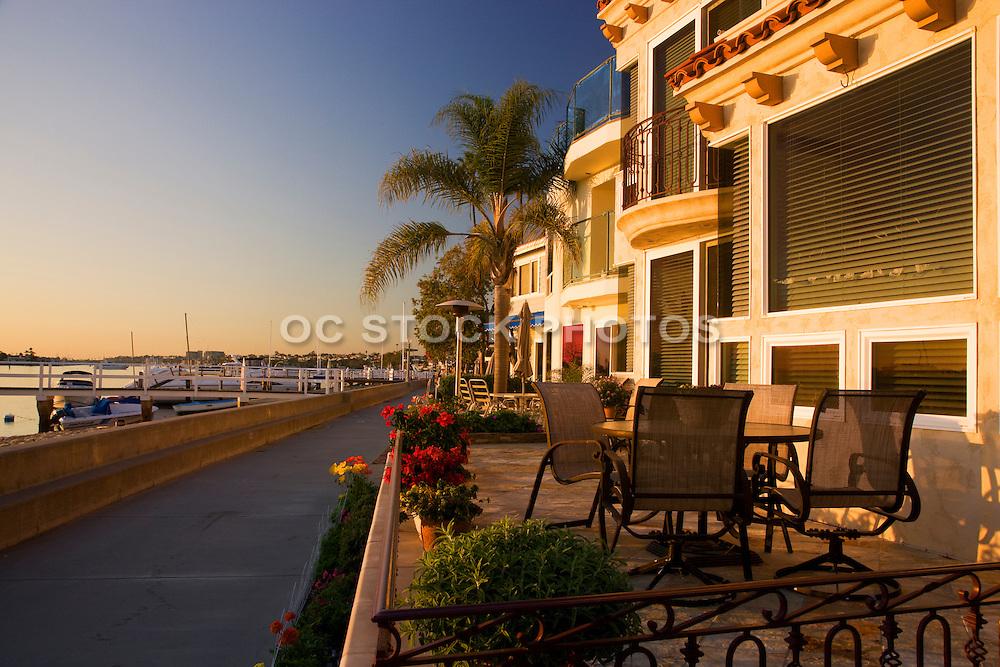 Scenic Walkway Around Balboa Island In Newport Beach Orange County, California