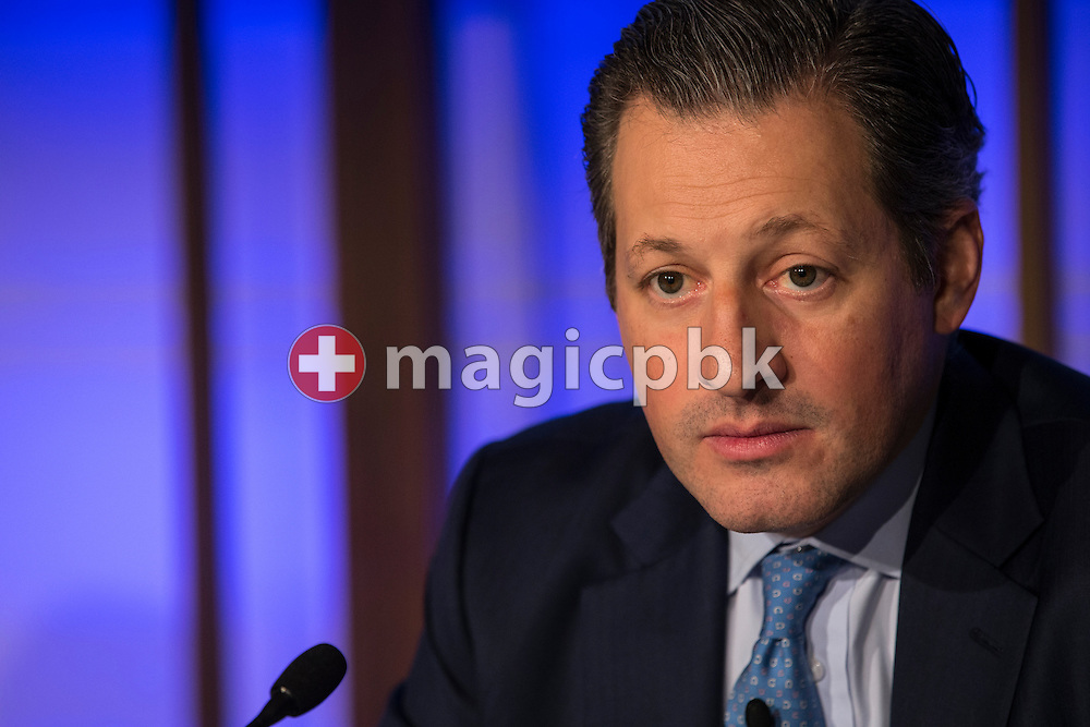 Boris F.J. Collardi, Chief Executive Officer (CEO), looks on during a press conference on the fourth quarter and full-year results 2014 of Julius Baer Group Ltd. held at the Hotel Widder in Zuerich, Switzerland, on Monday, 2 February 2015. (Photo by Patrick B. Kraemer / MAGICPBK)