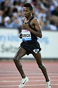 Selemon Barega (ETH) places fifth in the 5,000m in 12:59.66 in the IAAF Diamond League final during the Weltkasse Zurich at Letzigrund Stadium, Thursday, Aug. 29, 2019, in Zurich, Switzerland. (Jiro Mochizuki/Image of Sport)