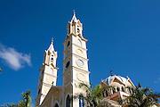 Passos_MG, Brasil...Pinaculo da igreja da Penha em Passos...Penha church spire in Passos...Foto: LEO DRUMOND / NITRO