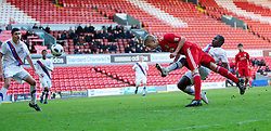 LIVERPOOL, ENGLAND - Saturday, January 8th, 2011: Liverpool's Kristjan Emilsson scores the second goal against Crystal Palace during the FA Youth Cup match at Anfield. (Photo by David Tickle/Propaganda)
