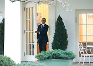 Washington - Obama Leaves The Oval Office - 20 Jan 2017