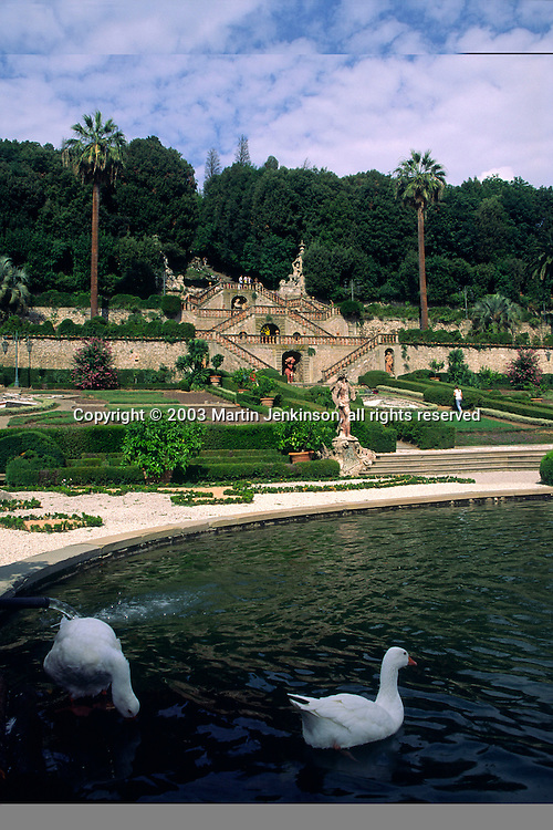 17th century baroque garden of the Villa Garzoni, Collodi, Tuscany, Italy.