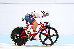 March 2, 2018 - Apeldoorn, Netherlands - Elinor Barker (GBR)  competes during the women's omnium during the UCI Track Cycling World Championships in Apeldoorn on March 2, 2018. (Credit Image: © Foto Olimpik/NurPhoto via ZUMA Press)