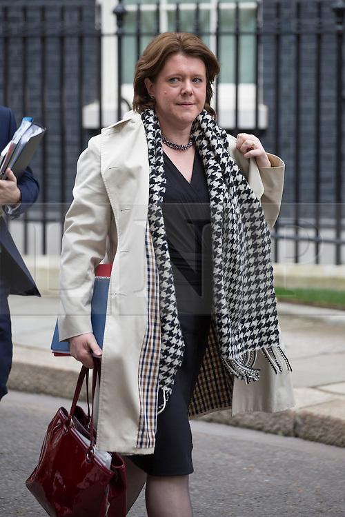 © licensed to London News Pictures. London, UK 16/04/2013. Secretary of State for Culture, Media and Sport, Maria Miller leaving Downing Street after Cabinet meeting on Tuesday, 16 April 2013. Photo credit: Tolga Akmen/LNP