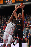 November 24, 2017 - Anvers, Belgique - ANTWERPEN, BELGIUM - NOVEMBER 24 : Khalid BOUKICHOU  of Belgium during the First Round E FIBA World Cup China 2019 Qualifiers match between Belgium and France on November 24, 2017 in Antwerpen, Belgium, 24/11/2017 (Credit Image: © Panoramic via ZUMA Press)
