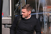 Scunthorpe United Manager Graham Alexander arrives at the ground before the EFL Sky Bet League 1 match between Bristol Rovers and Scunthorpe United at the Memorial Stadium, Bristol, England on 24 February 2018. Picture by Gary Learmonth.
