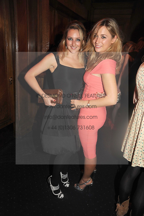 Left to right, NATASHA CORRETT and TILLY CLARKE at the Tatler Magazine Little Black Book party at Tramp, 40 Jermyn Street, London SW1 on 5th November 2008.