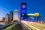 The Main Street Bridge and Jacksonville Skyline