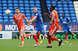 Marcus Maddison of Peterborough United in action with Joe Riley and Omar Beckles of Shrewsbury Town - Mandatory by-line: Joe Dent/JMP - 28/10/2017 - FOOTBALL - ABAX Stadium - Peterborough, England - Peterborough United v Shrewsbury Town - Sky Bet League One