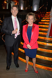 DAME ESTHER RANTZEN and MICHAEL BOWEN at the 2014 Costa Book of The Year Awards held at Quaglino's, Bury Street, London on 27th January 2015.  The winner of the Book of The Year was Helen Macdonald for her book H is for Hawk.