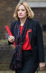 Downing Street, London, November 3rd 2015.  Secretary of State for Energy and Climate Change Amber Rudd arrives at 10 Downing Street to attend the weekly cabinet meeting. /// Licencing: Paul@pauldaveycreative.co.uk Tel:07966016296 or 020 8969 6875