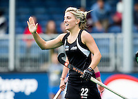 BRASSCHAAT (ANTWERP) - Gemma Flynn has scored during the Fintro Hockey World League Semi-Final match between the women of New Zealnd and Poland. COPYRIGHT WORLDSPORTPICS KOEN SUYK