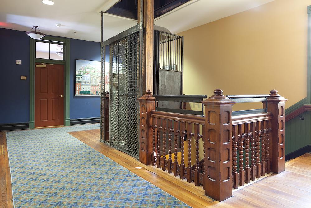 Antique elevator in Staunton Virginia historical society
