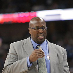 01 November 2008:  Cleveland Cavaliers coach Mike Brown during a 104-92 win by the New Orleans Hornets over the Cleveland Cavaliers at the New Orleans Arena in New Orleans, LA..