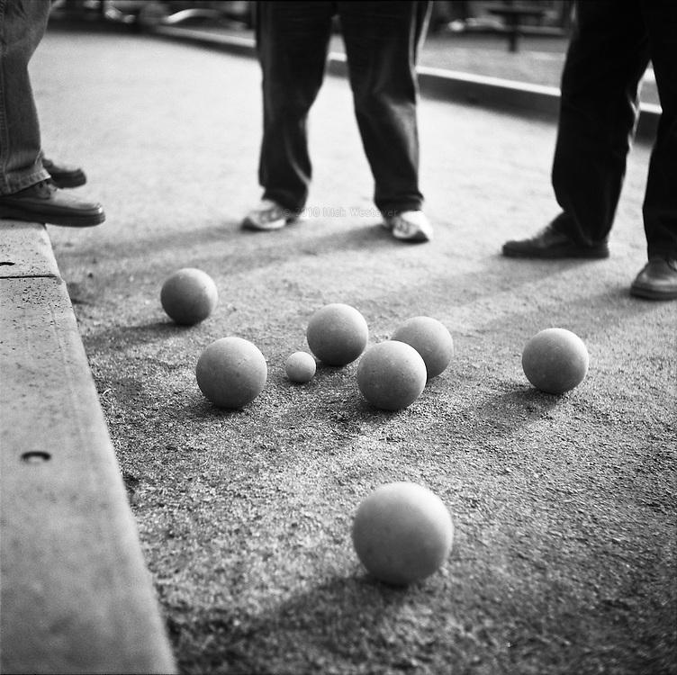 Bocce ball, Vancouver, BC.