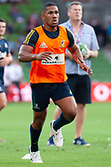 MELBOURNE, VIC - MARCH 01: Folau Fakatava (21) of the Highlanders during warm up at The Super Rugby match between Melbourne Rebels and Highlanders on March 01, 2019 at AAMI Park, VIC. (Photo by Speed Media/Icon Sportswire)