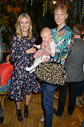 Left to right, DONNA AIR, JADE PARFITT and her daughter TABITHA at a preview of Mayfair's first Flower Show at Sketch, 9 Conduit Street, London on 18th May 2016.