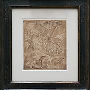 Maerten de Vos inkt tekening<br /> Cassata lijst smal 105051