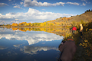 Photographers, fall colors, autumn, Oxbow Bend, Grand Teton National Park