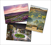 An assortment of landscape & urban photography greetings cards (examples shown here)