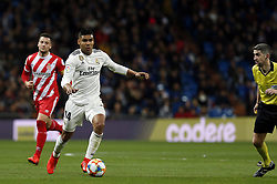 January 24, 2019 - Madrid, Madrid, Spain - Carlos H. Casemiro (Real Madrid) seen in action during the Copa del Rey Round of quarter-final first leg match between Real Madrid CF and Girona FC at the Santiago Bernabeu Stadium in Madrid, Spain. (Credit Image: © Manu Reino/SOPA Images via ZUMA Wire)