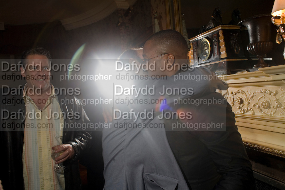 KEVIN SPACEY AND CUBA GOODING JNR., Pre Bafta dinner hosted by Charles Finch and Chanel. Mark's Club. Charles St. London. 9 February 2008.  *** Local Caption *** -DO NOT ARCHIVE-© Copyright Photograph by Dafydd Jones. 248 Clapham Rd. London SW9 0PZ. Tel 0207 820 0771. www.dafjones.com.