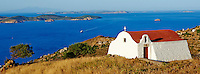 Grece, Dodecanese, Patmos, chapelle champetre // Greece, Dodecanese, Patmos island, small church