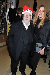 SIR PETER BLAKE and STELLA McCARTNEY at a party to celebrate the switching on of the Christmas Lights at the Stella McCartney store, Bruton Street, London on 29th November 2011.