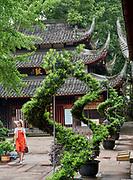 China, Sichuan. Chengdu. Wenshou Yuan Temple.
