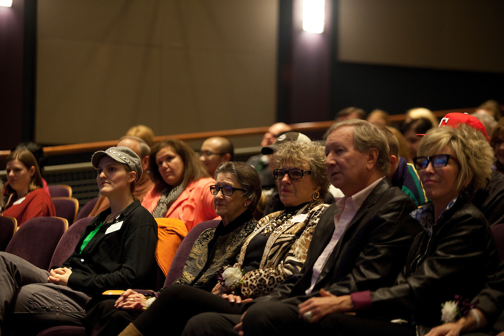 Andie Wall at Women in Philanthropy of Ohio University documentary premier at Baker Center Theater on November 6, 2013.