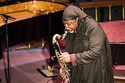COURTNEY PINE with ZOE RAHMAN (piano)<br /> THE BALLAD BOOK<br /> A remarkable, generous and strangely personal, despite the rapturous capacity audience, this  was a special and intimate evening of jazz Courtney Pine is accompanied by fellow Mercury nominee and MOBO Award winning pianist, Zoe Rahman. St George&rsquo;s Church, Deal. &copy; Tony Nandi 2017