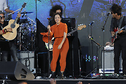SAN DIEGO, CA - OCTOBER 15: Natalia Lafourcade perfoms onstage at RiseUp AS ONE concert hosted by Univision and Fusion at Cross Border Xpress (CBX) on October 15, 2016 in San Diego, California, USA. Byline, credit, TV usage, web usage or linkback must read SILVEXPHOTO.COM. Failure to byline correctly will incur double the agreed fee. Tel: +1 714 504 6870.