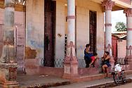 Women on a porch in Alquizar, Artemisa, Cuba.