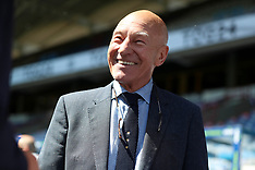 Sir Patrick Stewart At Premier League match Huddersfield Town v Arsenal - 13 May 2018