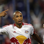 Thierry Henry, New York Red Bulls, celebrates a goal  during his Man of the Match performance during the New York Red Bulls V Toronto FC  Major League Soccer regular season match at Red Bull Arena, Harrison. New Jersey. USA. 29th September 2012. Photo Tim Clayton