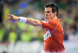 Berlin, Deutschland, 17.05.2015:<br />Handball EHF Pokal Finale 2014 / 2015 - Fuechse Berlin - HSV Hamburg - EHF CUP Finals 2014/15.<br /><br />Matthias Flohr (HSV #7) *** Local Caption *** © pixathlon