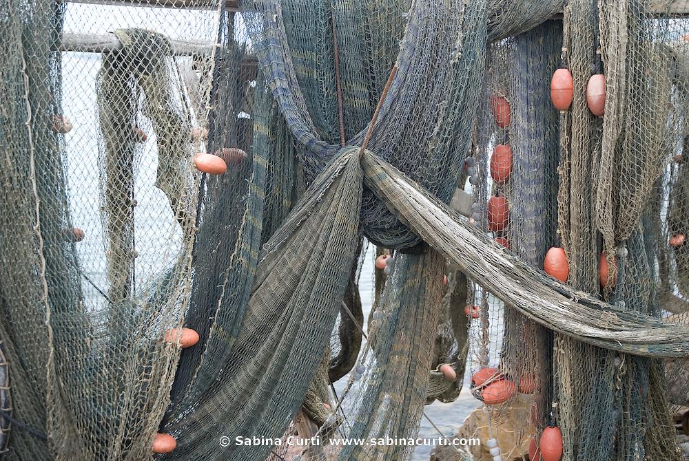Fishing nets in Pointe Courte, Sète