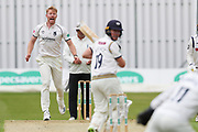 Liam Norwell of Warwickshire shouts for a catch during the Specsavers County Champ Div 1 match between Yorkshire County Cricket Club and Warwickshire County Cricket Club at York Cricket Club, York, United Kingdom on 17 June 2019.