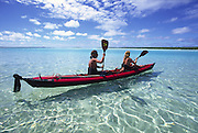 Kayaking, Aitutaki, Cook Islands<br />