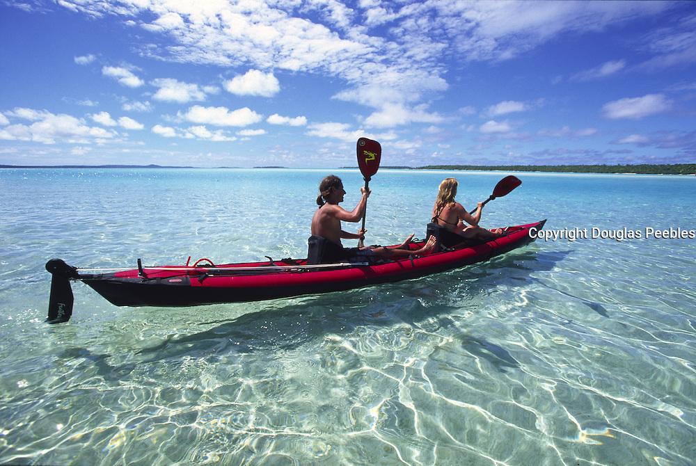 Kayaking, Aitutaki, Cook Islands<br />