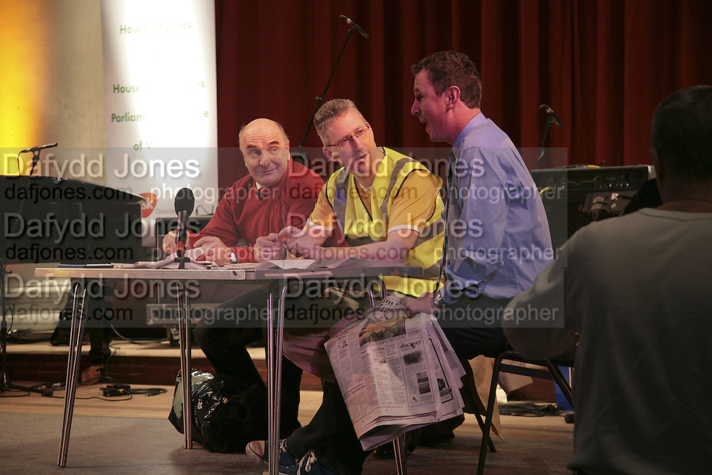 Stephen Pound, M.P. Lembit Opik M.P. and Nigel Evans M.P., Parliamentary Variety Show in aid of Macmillan Cancer Support.  , St. Johns, Smith Square, London, 1 February 2007.  -DO NOT ARCHIVE-© Copyright Photograph by Dafydd Jones. 248 Clapham Rd. London SW9 0PZ. Tel 0207 820 0771. www.dafjones.com.