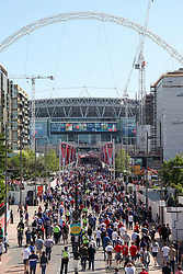 May 19, 2018 - London, England, United Kingdom - Fans head into Wembley Statidum to watch the FA Cup Final between Chelsea and Manchester United at Wembley Stadium on May 19, 2018 in London, England. (Credit Image: © Alex Cavendish/NurPhoto via ZUMA Press)