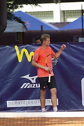 June 17, 2018 - L'Aquila, Italy - Johannes Haerteis during match between Johannes Haerteis (GER) and Liam Caruana (ITA) during day 2 at the Internazionali di Tennis Città dell'Aquila (ATP Challenger L'Aquila) in L'Aquila, Italy, on June 17, 2018. (Credit Image: © Manuel Romano/NurPhoto via ZUMA Press)