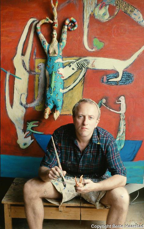 Art and music from the the 1980's. Kjell Erik Killi Olsen, norwegian artist. Trondheim, probably in 1985.