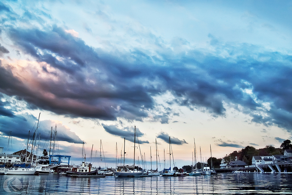 Bar Harbor, Maine is home to many lobster fishermen.  The lobster fleet, sailboats and everchanging weather help make this Maine oceanfront village a perfect spot to visit.