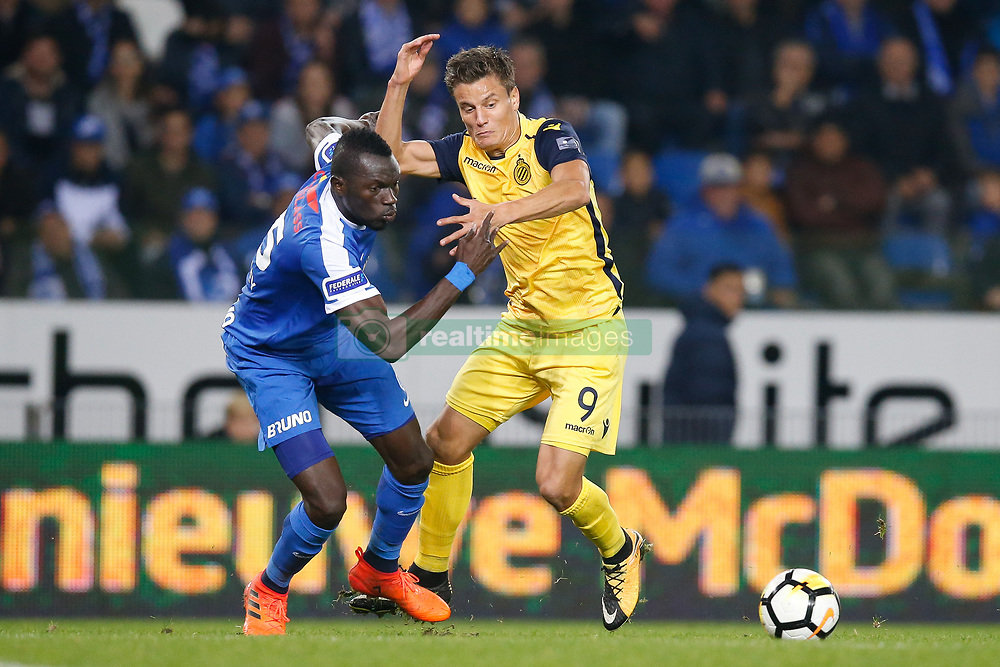 October 25, 2017 - Genk, BELGIUM - Genk's Omar Colley and Club's Jelle Vossen fight for the ball during the Jupiler Pro League match between KRC Genk and Club Brugge, in Genk, Wednesday 25 October 2017, on the twelfth day of the Jupiler Pro League, the Belgian soccer championship season 2017-2018. BELGA PHOTO BRUNO FAHY (Credit Image: © Bruno Fahy/Belga via ZUMA Press)