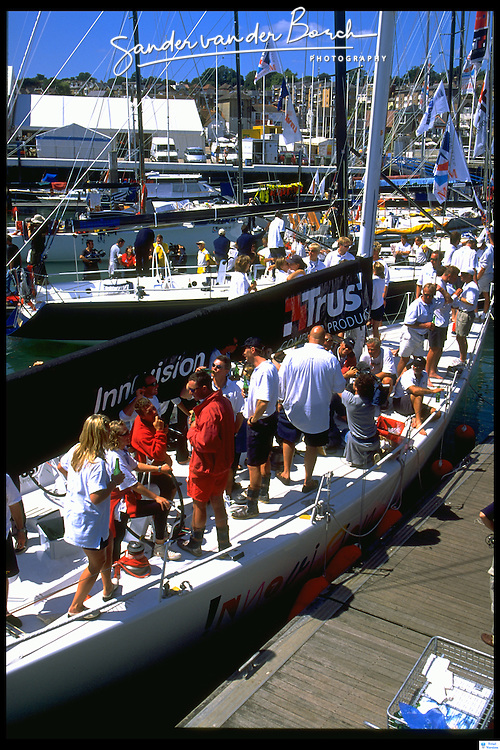 The Dutch team wins with the boat Mean Machine (Mumm 36) Innovision (IMS 50) and Trust  win the Admirals Cup 1999
