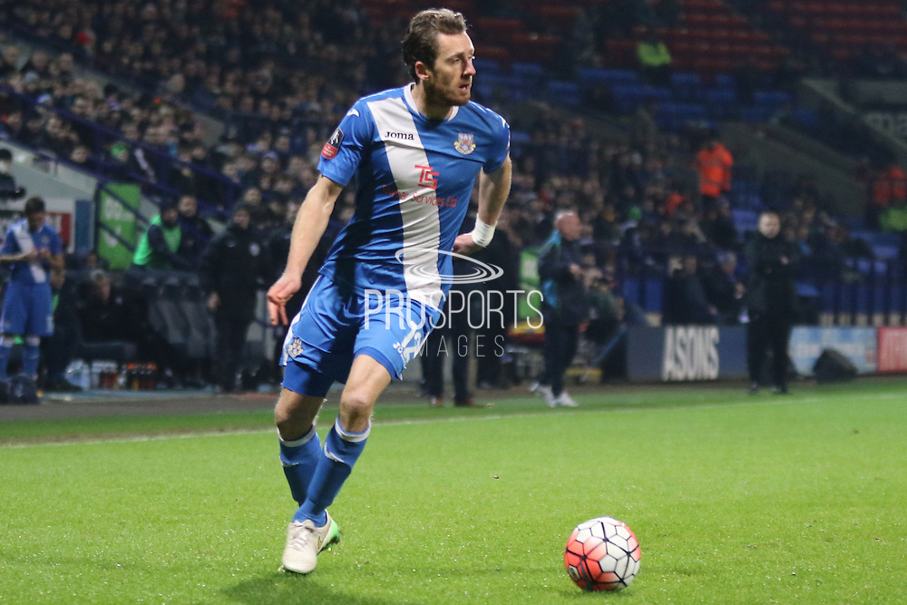 Jack Midson during the The FA Cup Third Round Replay match between Bolton Wanderers and Eastleigh at the Macron Stadium, Bolton, England on 19 January 2016. Photo by Pete Burns.