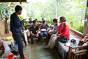 Catherine Raynor, Mile 91, interviewing business entrepreneurs in Indonesia.